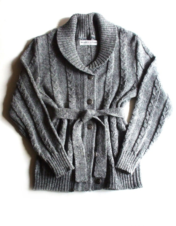 women's cashmere cardigan sweater with shawl collar