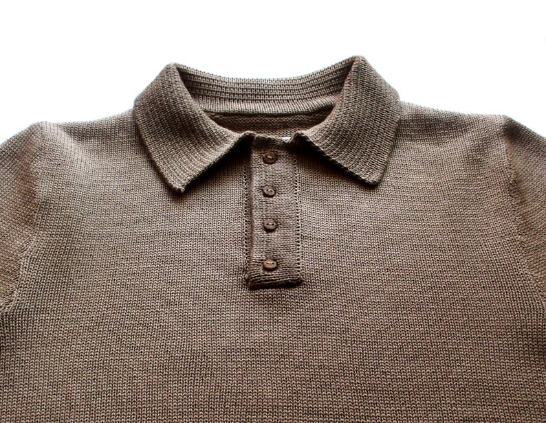 Mens knitted merino wool Poloshirt Tshirtshort sleeve sweater shirttopbutton necktopspringsummer