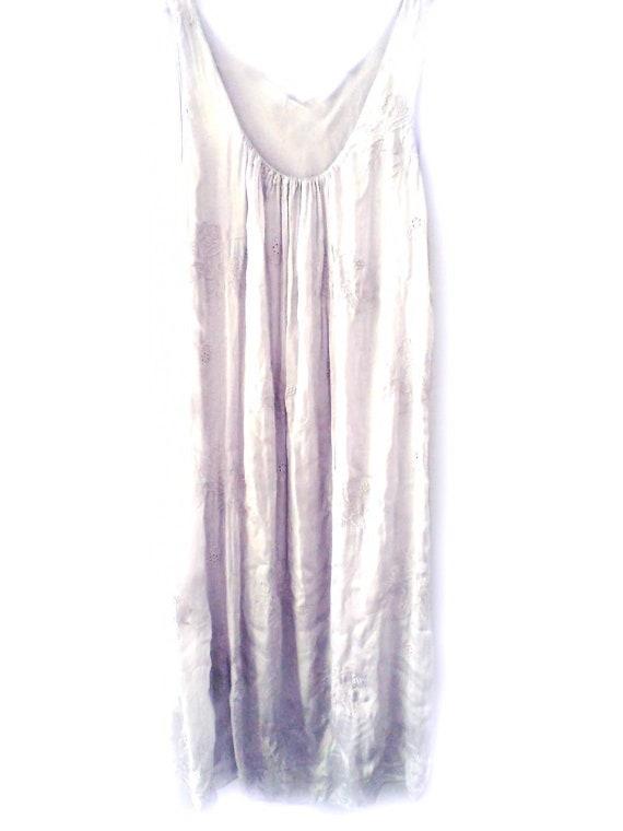 Grey Dress. Grey Cocktail Dress. Floral wedding dress. floral, Embroidery Dress. Silk Slip Dress. White Summer Dress. Boho Wedding Dress
