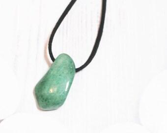 Aventurine pendant etsy large green aventurine necklace chunky aventurine pendant thinking of you gifts aventurine jewelry friend gift reiki aloadofball Choice Image