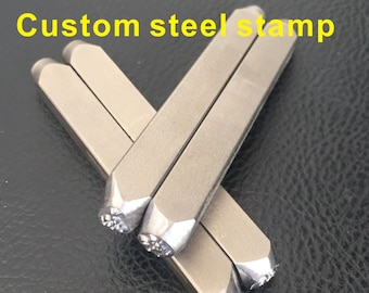 Custom High Hardness Steel Quenched Punched Dies Jewelry Stamp For Hand Stamping Punch On Metail