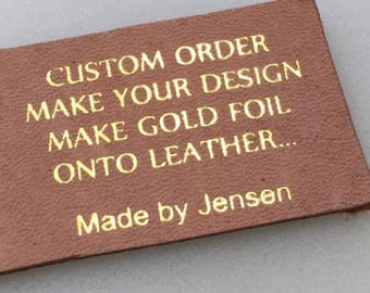 Personalized custom made stamp leather stamp/Stamping Leather custom logo