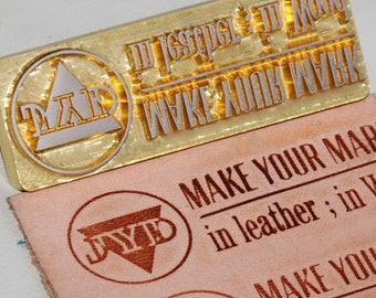 Personalized custom made stamp leather stamp/Stamping Leather