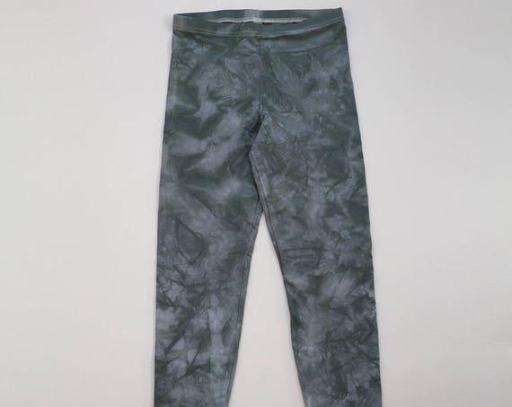 M Grey Crystal Wash Leggings