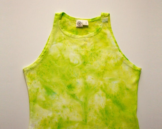 M Slime Green High Neck Crop Top - IMPERFECT