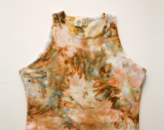M Oxidized High Neck Crop Top