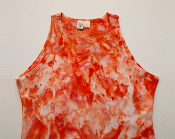 XL Peach High Neck Crop Top