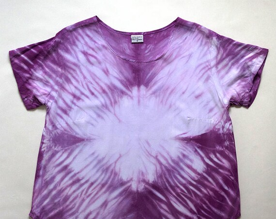 M Purple Arashi Scoopneck Blouse