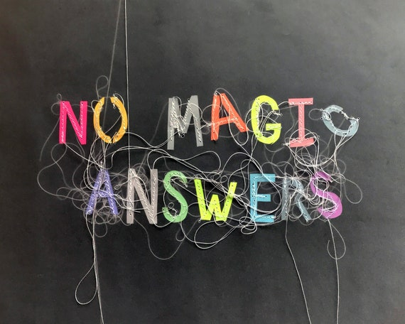 No Magic Answers 8x10 Print