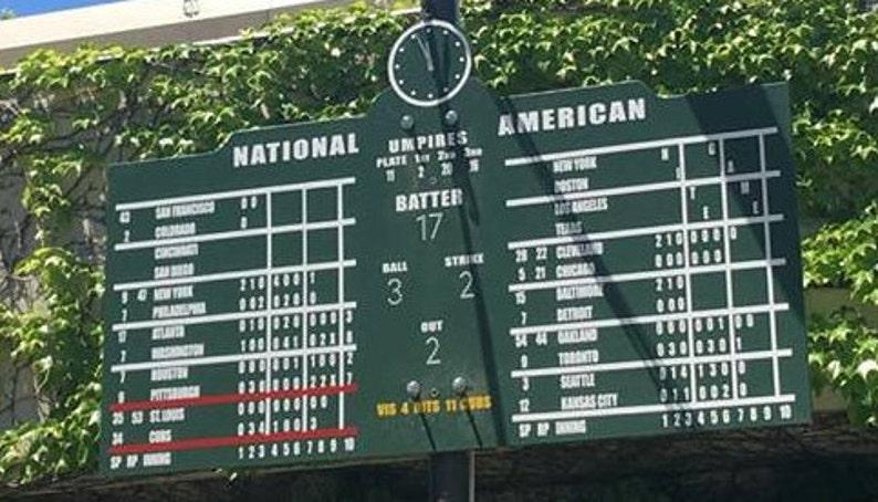 423b72f274d6e Extra Large Wrigley Field Scoreboard Chicago Cubs 76 x