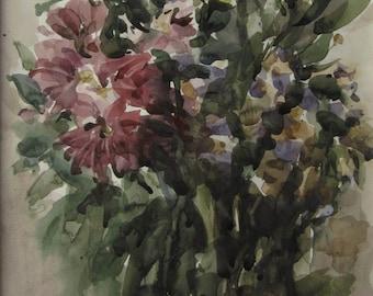 Autumn flowers 3  - original watercolor