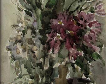 Autumn flowers 4  - original watercolor