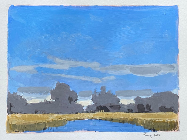 Saturday drive contemporary landscape painting