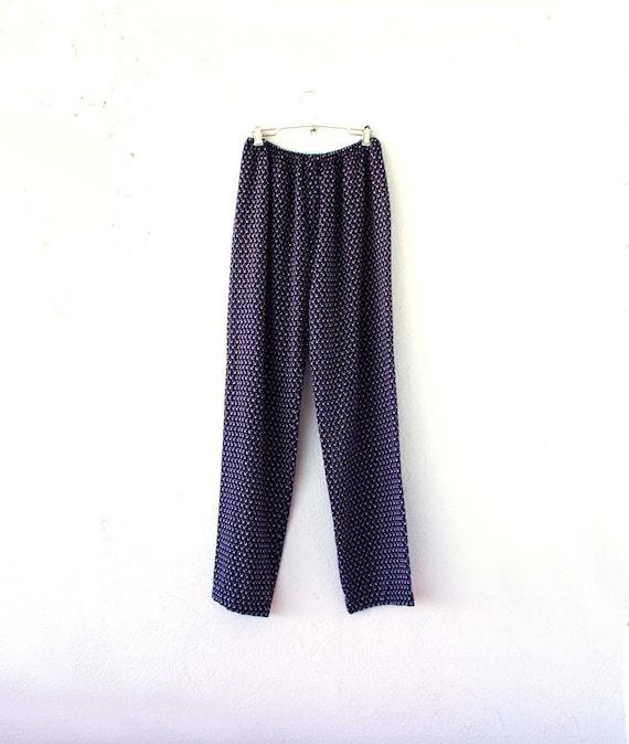 Vintage Diane Frés Anchor Sheer Pajama Pants // Na
