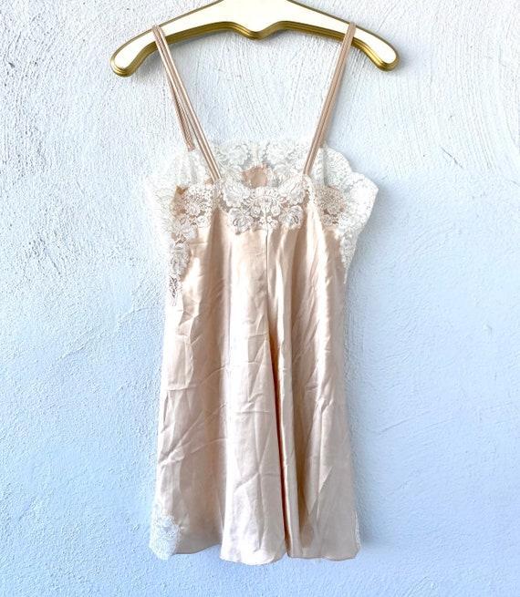 Vintage Oscar de la Renta Floral Lace Slip Dress - image 6
