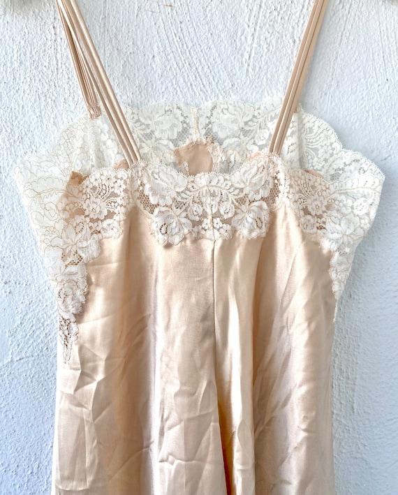 Vintage Oscar de la Renta Floral Lace Slip Dress - image 5