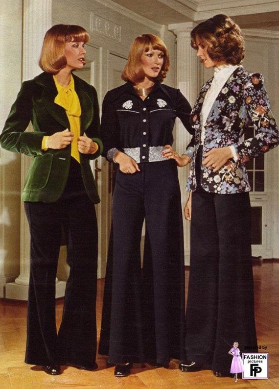 Vintage 70s 80s Velvet Red Blue Blazer Lightweigh… - image 3