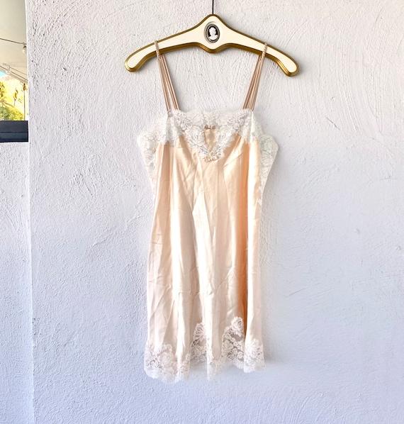 Vintage Oscar de la Renta Floral Lace Slip Dress - image 1