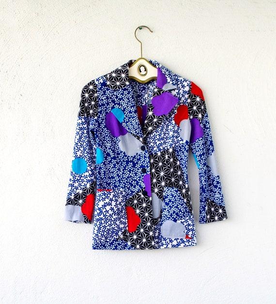 Vintage Hanae Mori Psychedelic Suit Jacket Blazer
