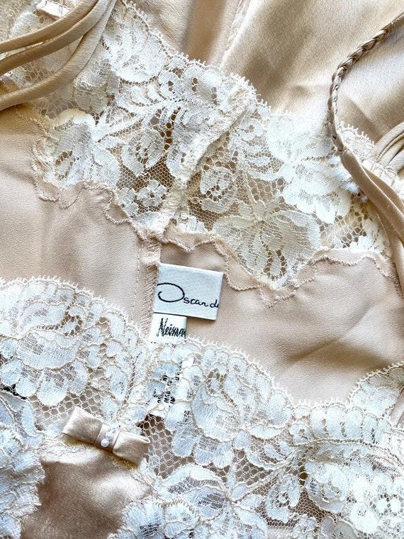 Vintage Oscar de la Renta Floral Lace Slip Dress - image 2