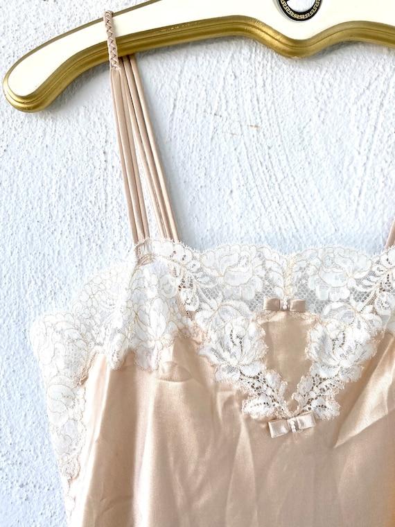Vintage Oscar de la Renta Floral Lace Slip Dress - image 3