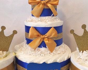 Prince Diaper Cake Centerpiece