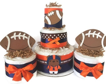 Sports Baby Shower Diaper Cakes, Sports Shower Decorations, Centerpiece