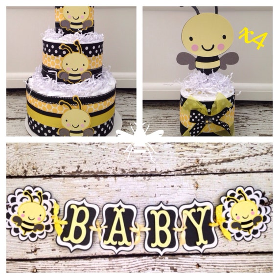 Bumble Bee Baby Shower In A Box Complete Bee Theme Baby Etsy
