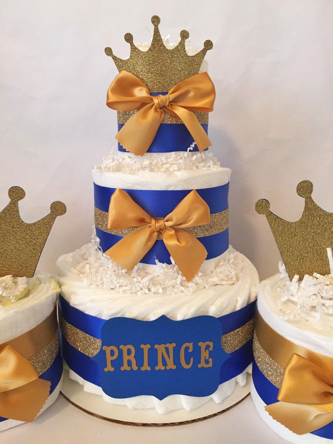Prince Baby Shower Party Package In Royal Blue And Gold Prince