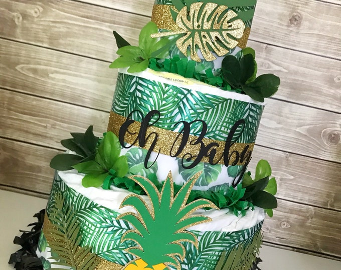 Featured listing image: Tropical Baby Shower Centerpiece, Tropical Baby Shower Decorations, Aloha Baby