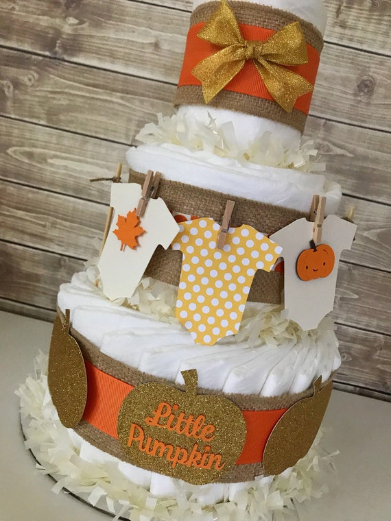 Fall Baby Shower Centerpiece Fall Baby Shower Diaper Cake Etsy