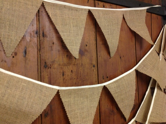weddings fetes high grade rustic hessian various lengths barn dance Bunting