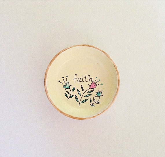 FAITH - Hand Designed Jewelry Dish