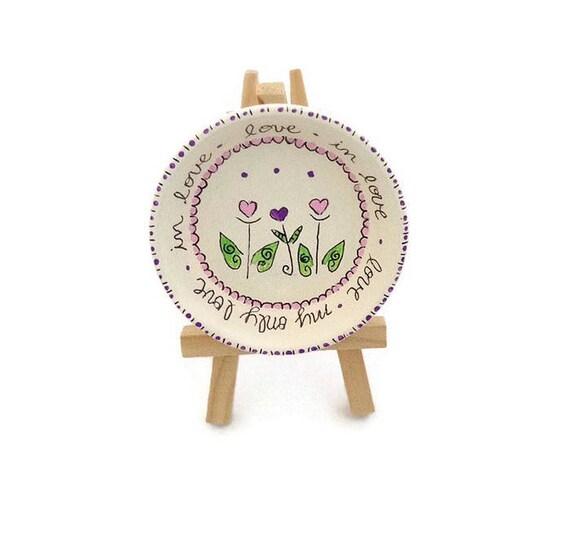 FLOWER HEARTS - Hand Designed Jewelry Dish