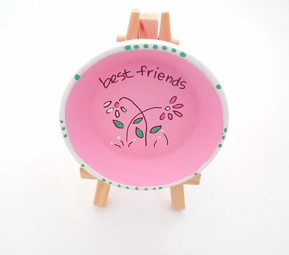 BEST FRIENDS - Hand Designed Jewelry Dish
