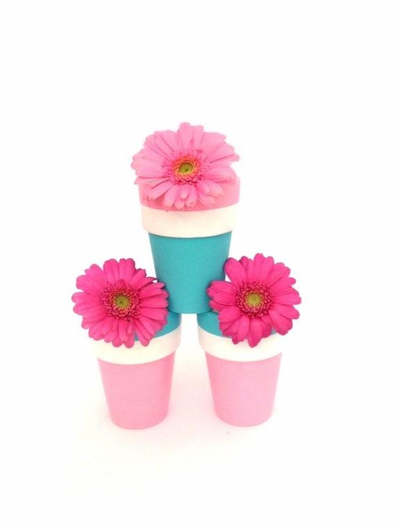 SHERBERT - Hand Designed Clay Pots, Spring Decor, Plant Pots, Garden Plant Pots, Spring Plant Pots, Hand Painted Plant Pots, Indoor Pots