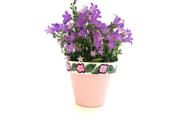PINK PRETTY - Hand Designed  Plant Pot