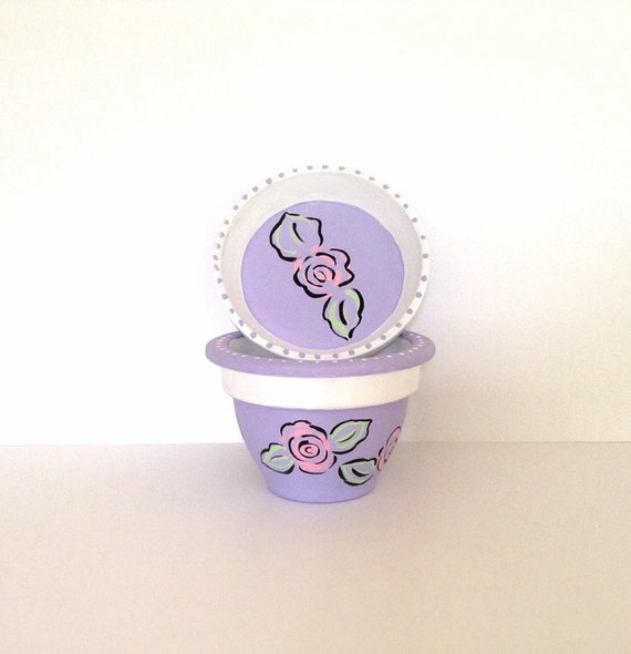 SWEET LILAC - Hand Designed Plant Pot