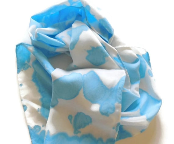 SWEET BLUE - Hand Designed Bamboo Rayon Scarf