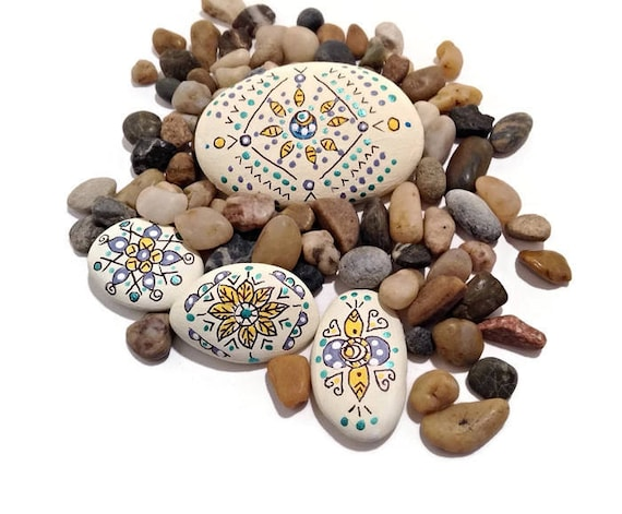 INTO THE GARDEN RIVER ROCKS - Hand Designed River Rocks