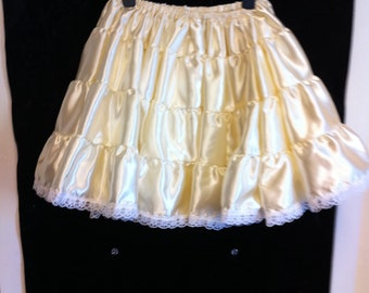SISSY~MAIDS~ADULT BABY~UNISEX~CD//TV TIERED /& LAYERED ORGANZA PETTICOAT