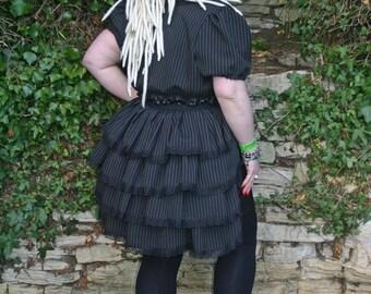 Gothic, steampunk, burlesque Pinstripe bustle