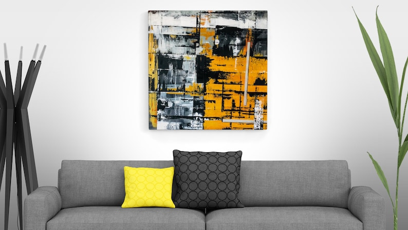 Abstract Hand Made Painting GOLDEN PATH Acrylic image 0