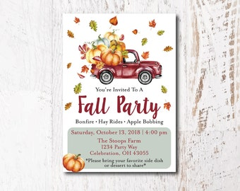 fall harvest party etsy