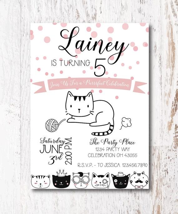 Kitty party invitation cat invitation kitten birthday invitation for your cat birthday party image 0 filmwisefo