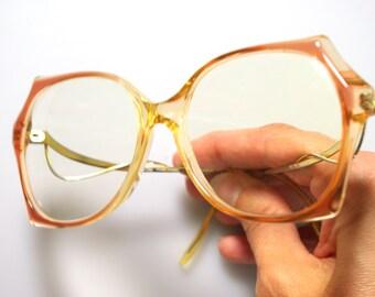 4c788a0048 Tangerine Oversized Lens 80s Flared Glasses French BerDel Frames