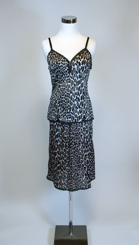 Vanity Fair Leopard Slip Set Matching Camisole and