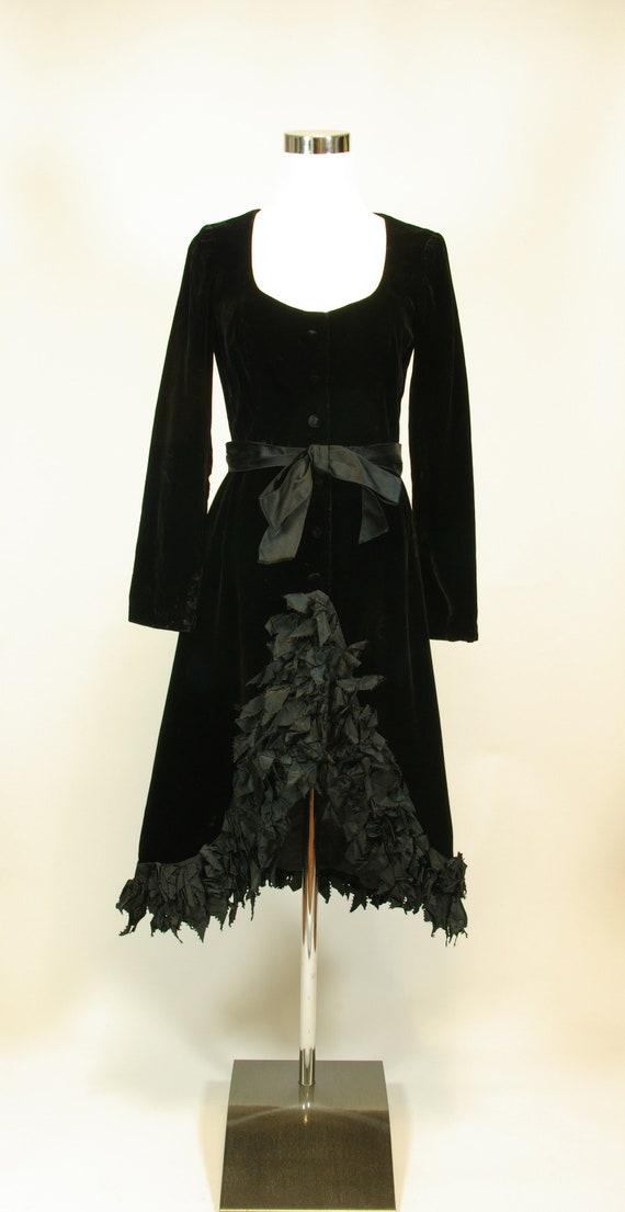 Ferdinando Sarmi Black Velvet and Ribbon Designer