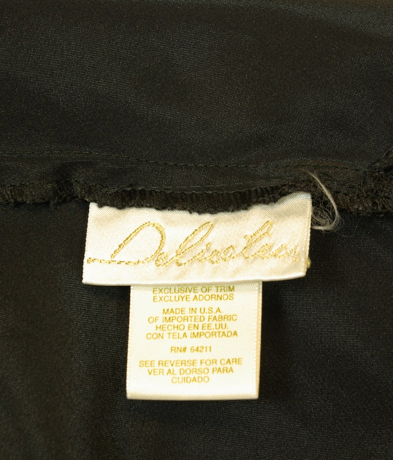Lacy Mesh Heart Black Satin High Cut Step In Teddy Large size 80s Delicates label