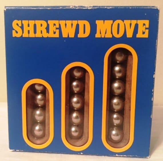 VINTAGE 2 Person Logic Game Shrewd Move NIB